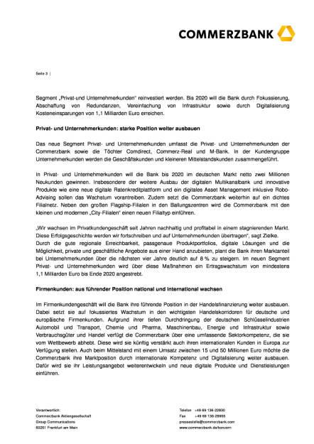 Commerzbank: Profitabilität durch Fokussierung und Digitalisierung, Seite 3/6, komplettes Dokument unter http://boerse-social.com/static/uploads/file_1861_commerzbank_profitabilitat_durch_fokussierung_und_digitalisierung.pdf (30.09.2016)