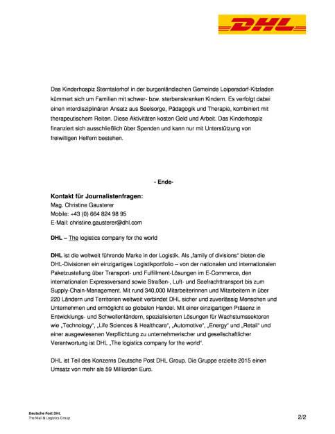 DHL Express Österreich Mitarbeiter: Spende für Sterntalerhof , Seite 2/2, komplettes Dokument unter http://boerse-social.com/static/uploads/file_1862_dhl_express_osterreich_mitarbeiter_spende_fur_sterntalerhof.pdf (30.09.2016)