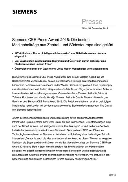 Siemens CEE Press Award 2016, Seite 1/2, komplettes Dokument unter http://boerse-social.com/static/uploads/file_1864_siemens_cee_press_award_2016.pdf (30.09.2016)