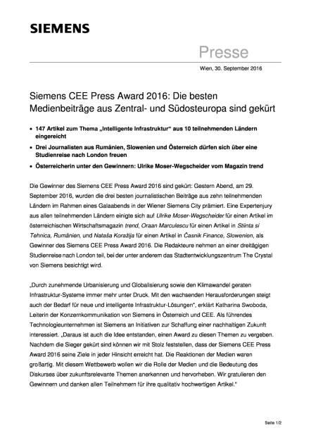 Siemens CEE Press Award 2016, Seite 1/2, komplettes Dokument unter http://boerse-social.com/static/uploads/file_1864_siemens_cee_press_award_2016.pdf (30.09.2016)