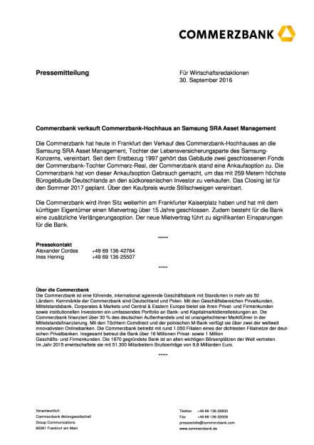 Commerzbank-Hochhaus an Samsung SRA Asset Management verkauft, Seite 1/2, komplettes Dokument unter http://boerse-social.com/static/uploads/file_1867_commerzbank-hochhaus_an_samsung_sra_asset_management_verkauft.pdf (30.09.2016)