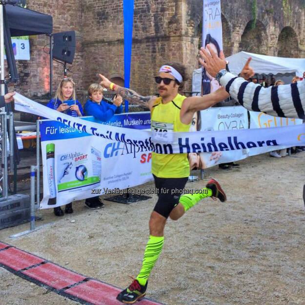 Florian Neuschwander, Zieleinlauf, Gelita Trail Marathon Heidelberg, © Florian Neuschwander (03.10.2016)