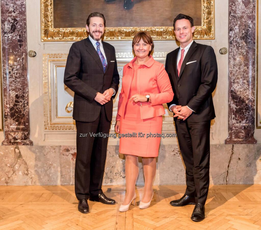 Harald Mahrer (Staatssekretär), Herta Stockbauer (Vorstandsvorsitzende der BKS Bank), Christoph Boschan (Vorstandsvorsitzender der Wiener Börse), © ViennaShots (06.10.2016)