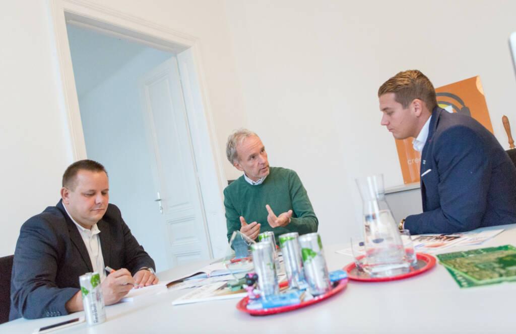Mit Erwin Stricker und Lukas Scherzenlehner (08.10.2016)