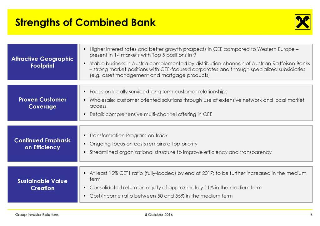 RBI - Strengths of Combined Bank (11.10.2016)