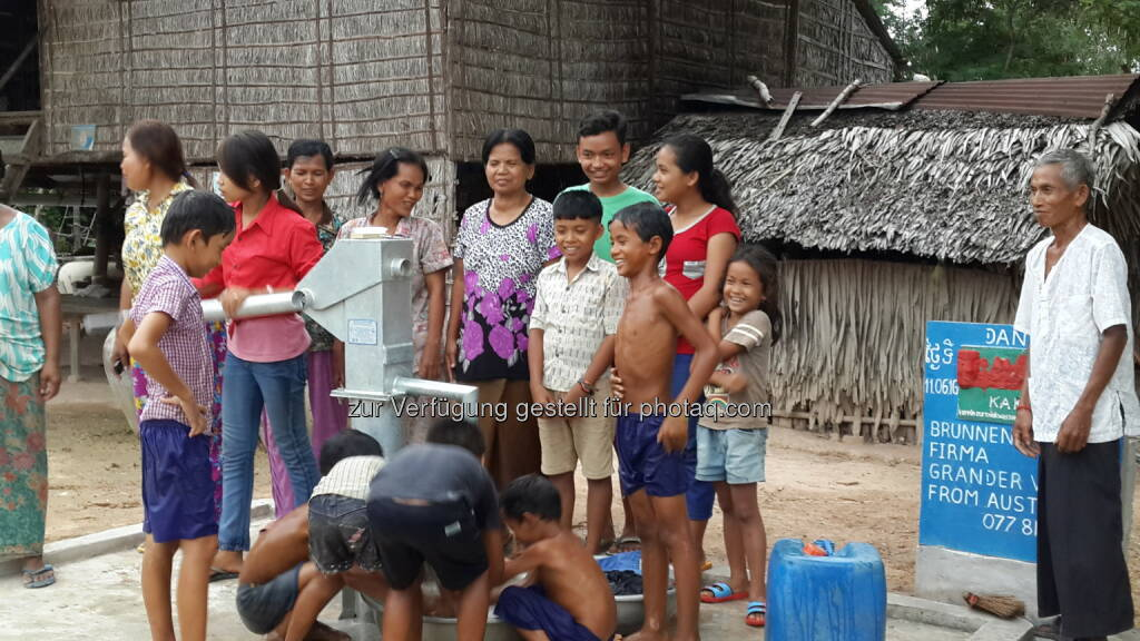 Brunnen Nummer 208 im Dorf Ta Yeung, Bezirk Som Raung : Grander® unterstützt Brunnenbau in Kambodscha : Fotocredit: F. Kieninger - Verein Kakihe, © Aussendung (11.10.2016)