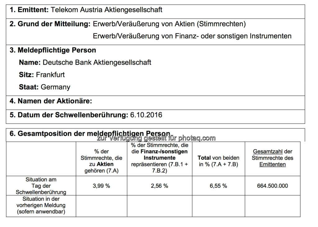 Deutsche Bank Telekom (11.10.2016)