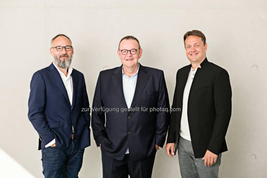 Oliver Blecken, Michael Jäschke, Henning Ehlert: JOM Jäschke Operational Media GmbH: Die JOM Group startet am neuen Standort Düsseldorf mit Oliver Blecken durch © obs/JOM Jäschke Operational Media GmbH , © Aussender (12.10.2016)