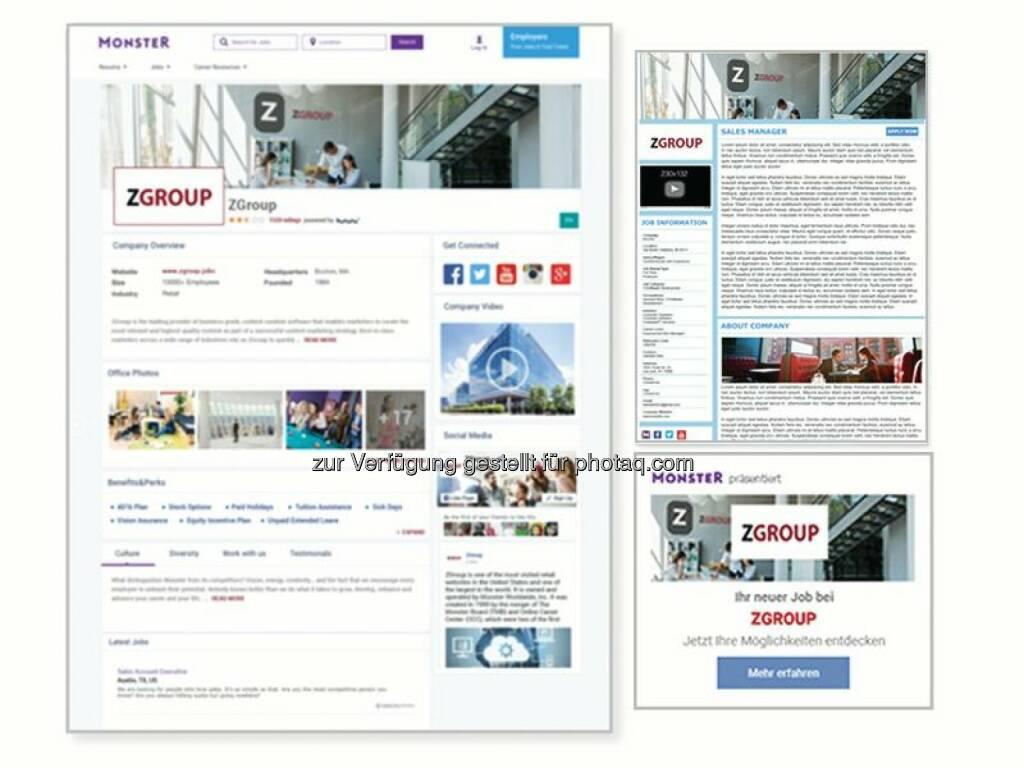 Monster launcht neue Employer Branding Lösung, um Unternehmen zu helfen, einfacher Top-Kandidaten zu finden und einzustellen : Fotocredit: obs/Monster Worldwide Deutschland GmbH/Monster Deutschland GmbH, © Aussendung (17.10.2016)