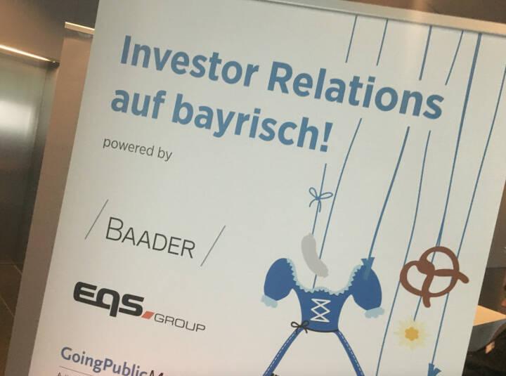 Investor Relations auf bayrisch Baader