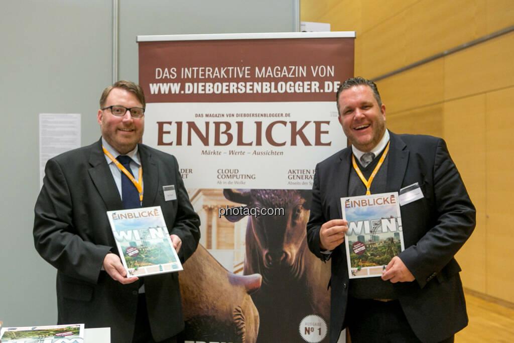 Marc Schmidt, Christoph Scherbaum (Die Börsenblogger), Einblicke, © Martina Draper/photaq (20.10.2016)