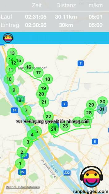 30k via http://www.runplugged.com/app - Kopf-Schulter-Formation (22.10.2016)