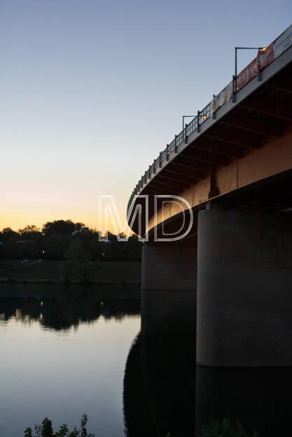 Alte Donau, Abend, Wien, © Martina Draper (15.12.2012)