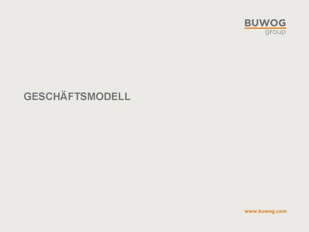 Buwog Group - Geschäftsmodell (25.10.2016)
