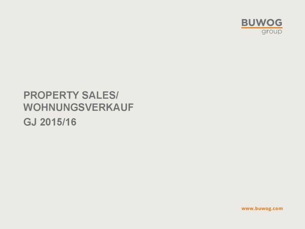 Buwog Group - Property Sales (25.10.2016)
