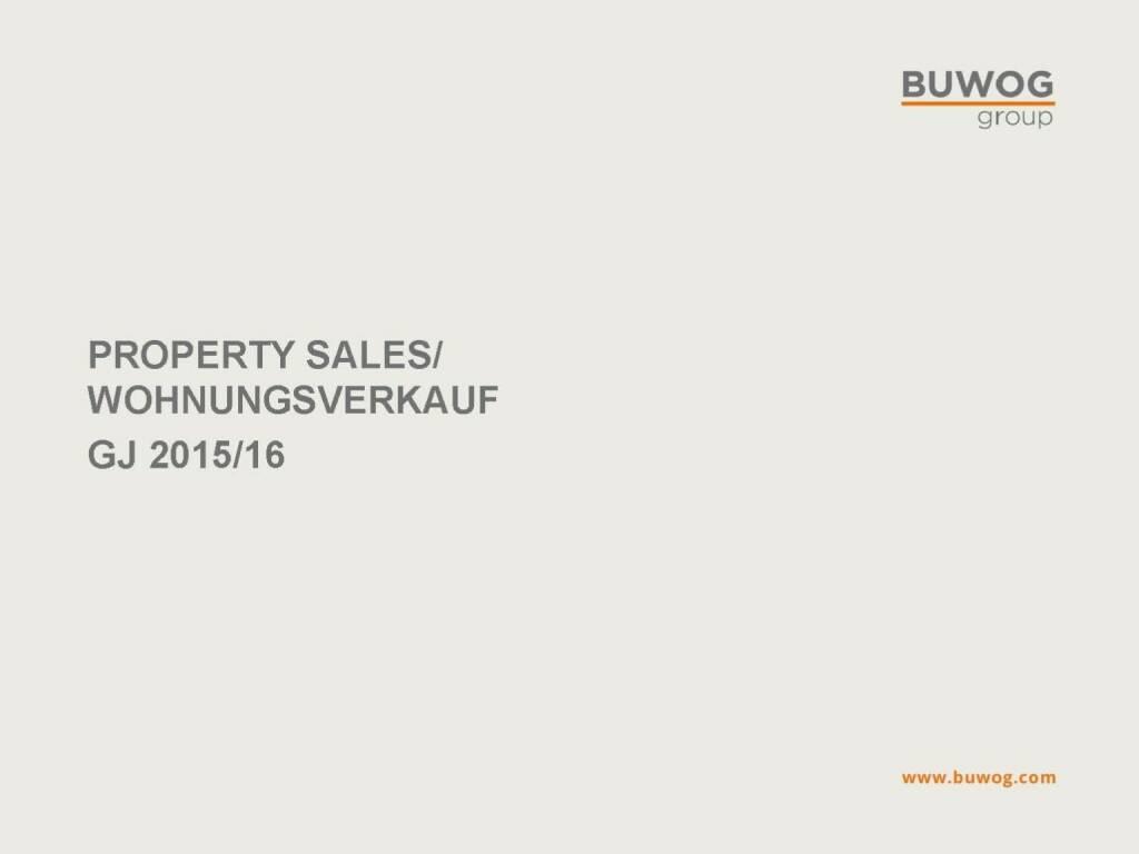 Buwog Group - Property Sales (25.10.2016)