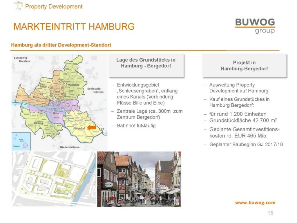 Buwog Group - Markteintritt Hamburg (25.10.2016)