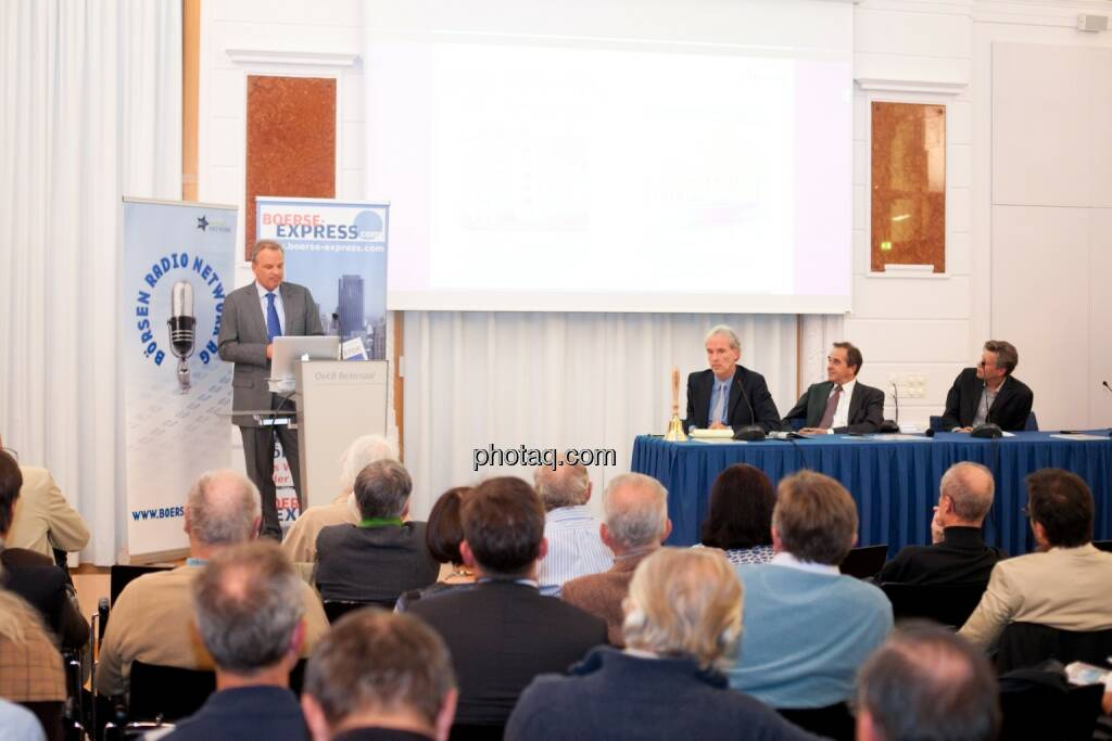 Andreas Feuerstein (S Immo), Christian Drastil (BSN), Wolfgang Matejka (Matejka & Partner), Robert Gillinger (Börse Express), © Michaela Mejta (25.10.2016)