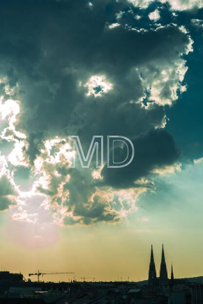 Votivkirche, Wolken, Wien, © Martina Draper (15.12.2012)