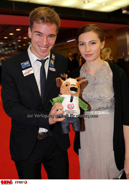 Andreas Onea (AUT) and his girlfriend Photo: GEPA pictures/ Walter Luger (28.10.2016)