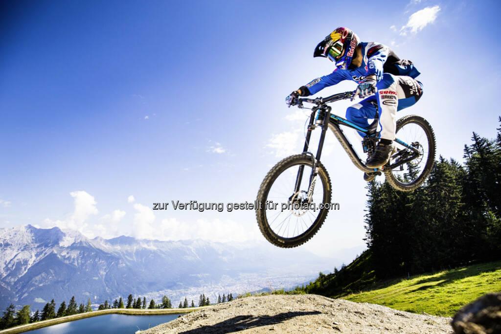 Marcelo Gutiérrez (Pro Downhill MTB Rider, Manizales, Kolumbien) : Crankworx kommt von 21. bis 25. Juni 2017 erstmals nach Innsbruck : Fotocredit: Innsbruck Tourismus/Tom Bause - bause.at, © Aussendung (28.10.2016)