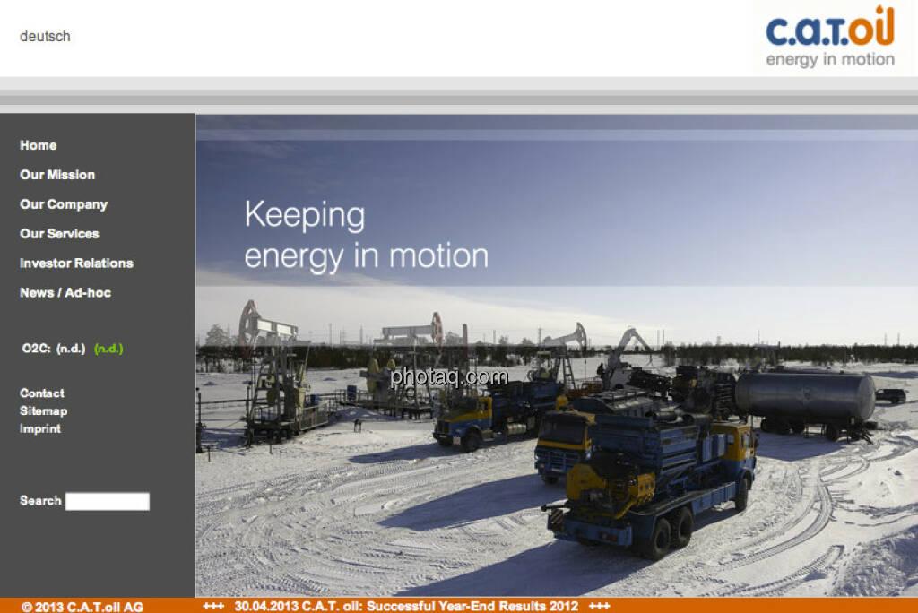 Die C.A.T. oil AG startete am 4. Mai 2006 an der Frankfurter Börse (04.05.2013)