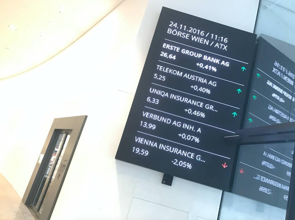 ATX Börse Wien Erste Group (24.11.2016)