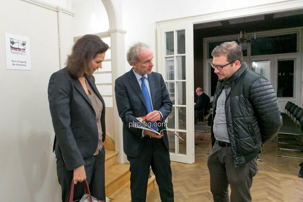 Christine Reitsamer (Baader Bank), Christian Drastil (BSN), Michael Lippitsch (Buwog), © Martina Draper/photaq (27.11.2016)