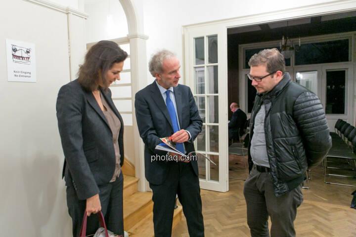 Christine Reitsamer (Baader Bank), Christian Drastil (BSN), Michael Lippitsch (Buwog)