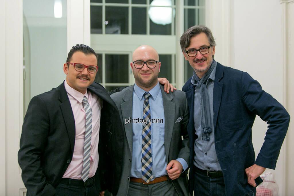 Freunde Michael Plos (BSN), Sebastian Leben (BRN), Josef Chladek (BSN), © Martina Draper/photaq (27.11.2016)