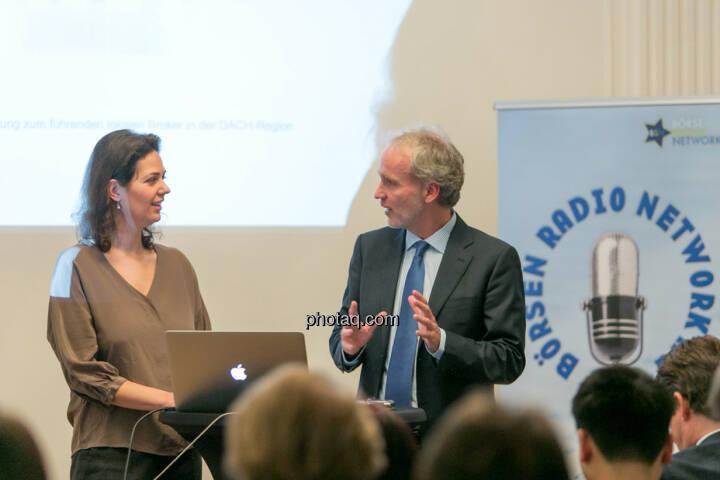 Christine Reitsamer (Baader Bank), Christian Drastil (BSN)