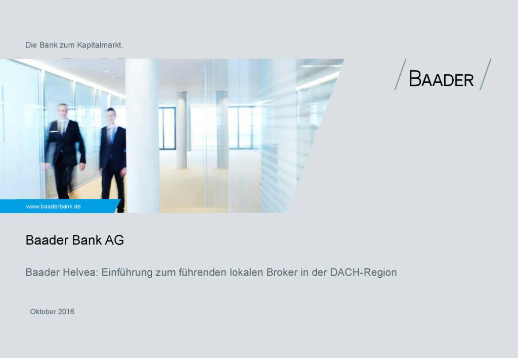 Baader Bank Präsentation (28.11.2016)
