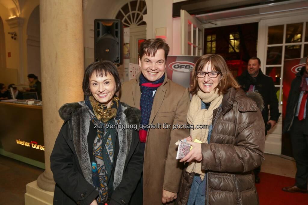 Edith Franc, Christoph Neumayer, Henriette Lininger, Wiener Börse Punsch 2016, © Wiener Börse AG/APA-Fotoservice/Tanzer (02.12.2016)