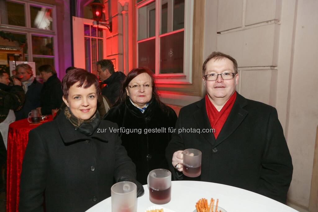 Yvette Rosinger, Gregor Rosinger - Wiener Börse Punsch 2016, © Wiener Börse AG/APA-Fotoservice/Tanzer (02.12.2016)