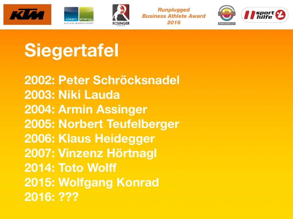 Business Athelete Award Siegertafel (06.12.2016)