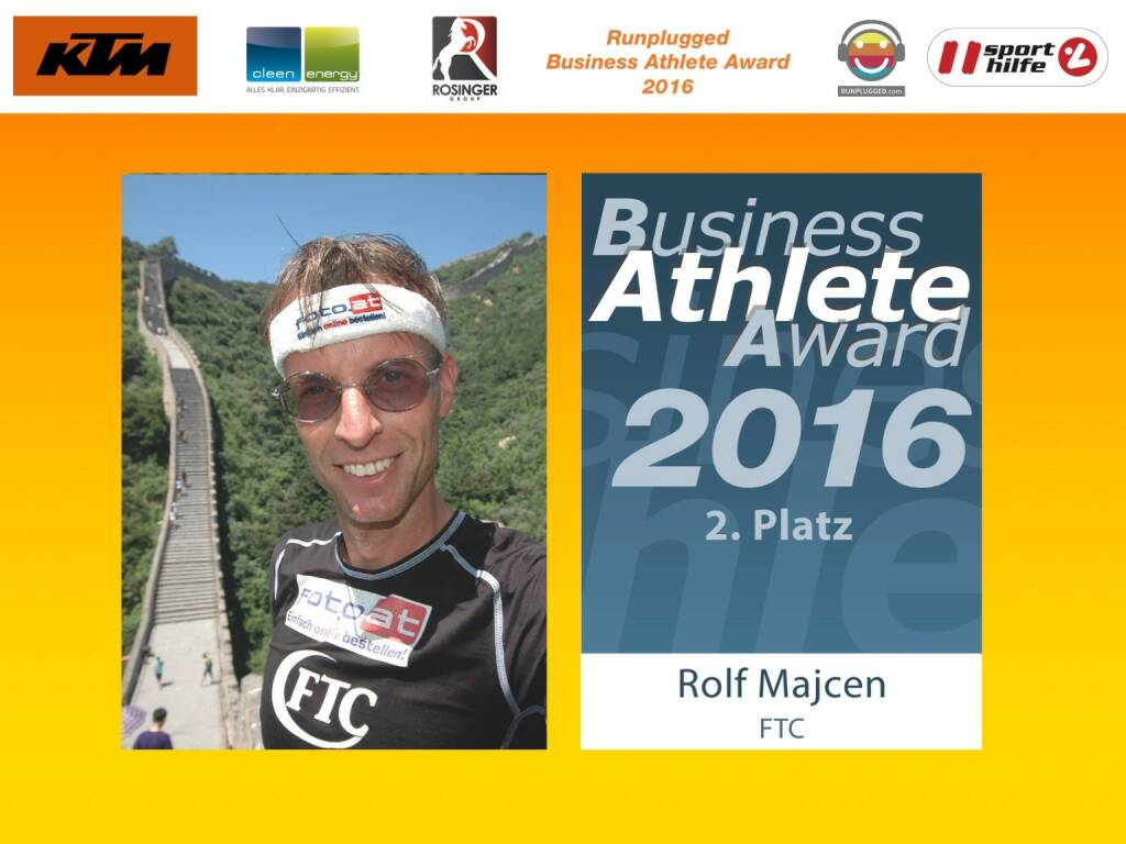Business Athelete Award 2016 - Rang 2 Rolf Majcen (06.12.2016)