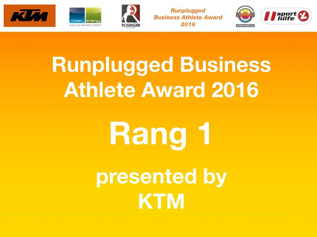 Business Athelete Award 2016 - Rang 1 presented by KTM (06.12.2016)
