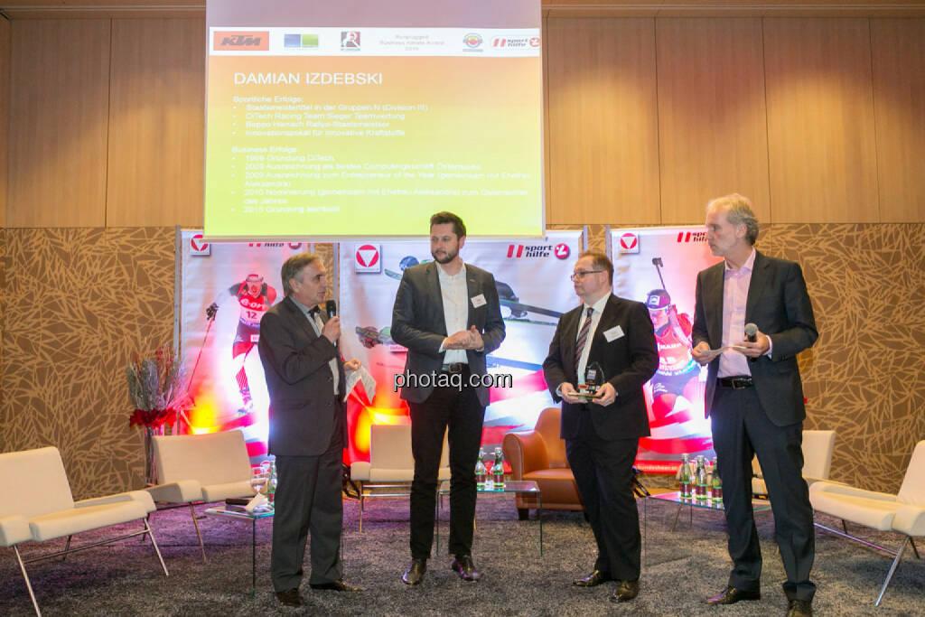 Hans Huber, Damian Izdebski (techbold technology group), Gregor Rosinger (Rosinger Group), Christian Drastil (BSN), © Martina Draper/photaq (06.12.2016)
