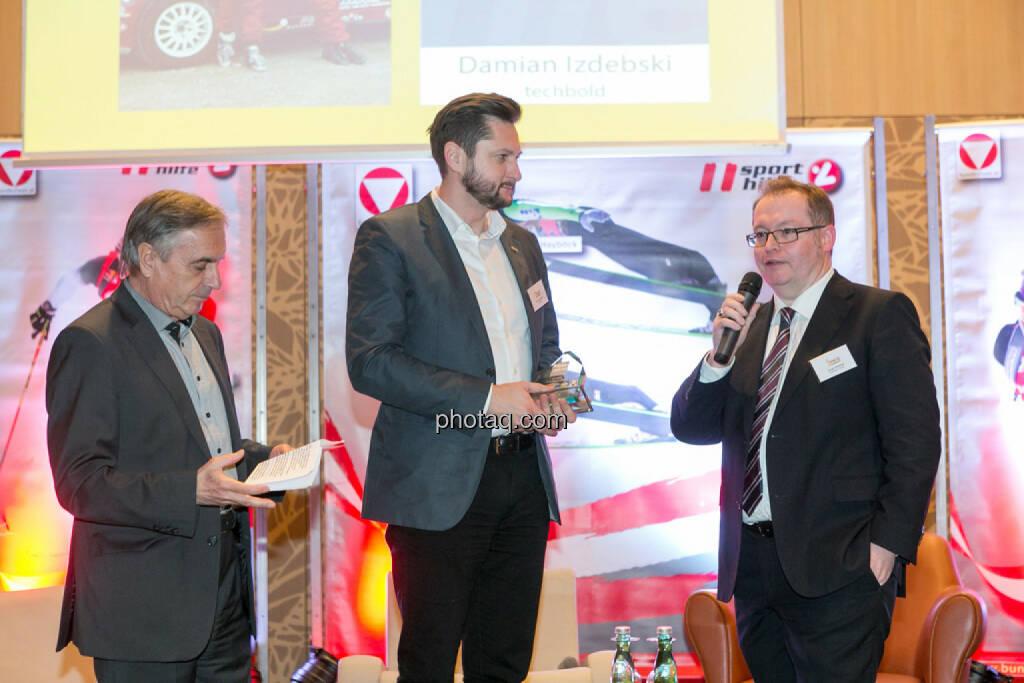 Hans Huber, Damian Izdebski (techbold technology group), Gregor Rosinger (Rosinger Group), © Martina Draper/photaq (06.12.2016)