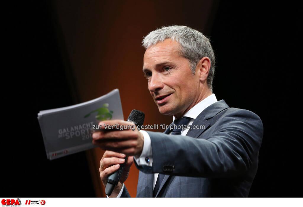 Moderator Rainer Pariasek, Foto: GEPA pictures/ Markus Oberlaender (08.05.2013)