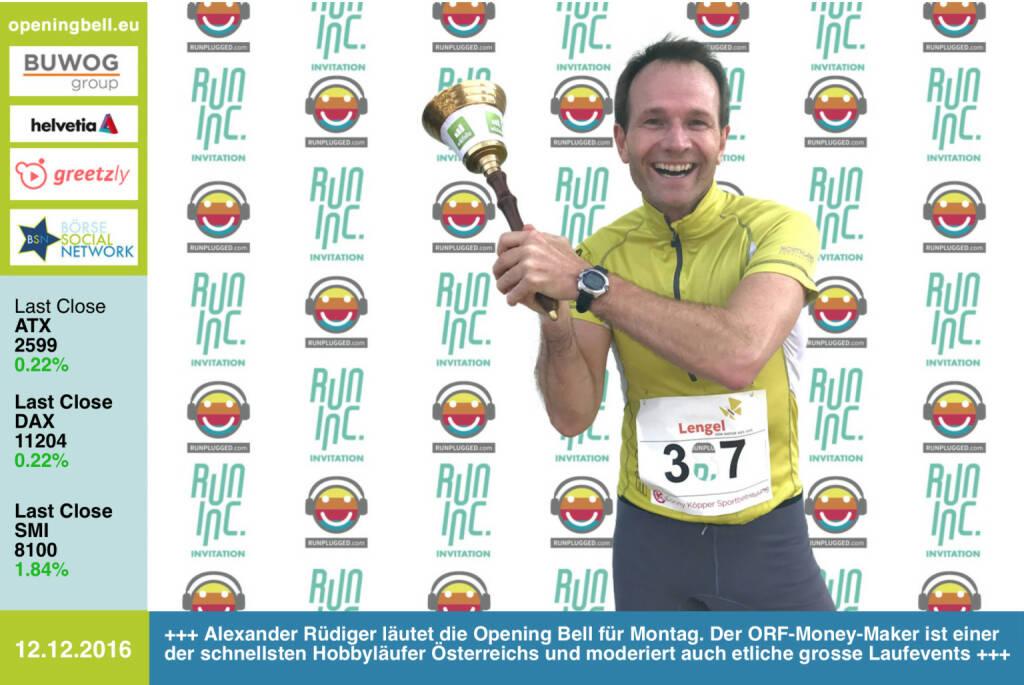 #openingbell am 12.12.: Alexander Rüdiger läutet die Opening Bell für Montag im Rahmen der RunInc.-Invitation für Läufer. Der ORF-Money-Maker ist einer der schnellsten Hobbyrunner Österreichs und moderiert auch etliche grosse Laufevents http://www.alexander-ruediger.at http://www.stiftathlon.at http://www.runinc.at https://www.facebook.com/groups/Sportsblogged (12.12.2016)