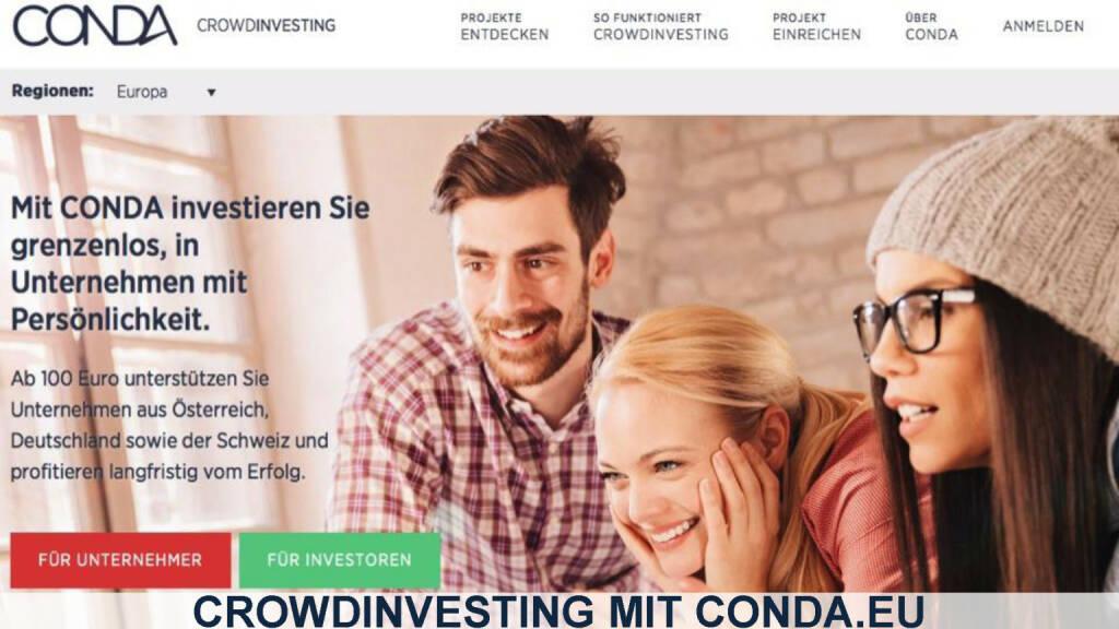 Conda Homepage Startseite (12.12.2016)