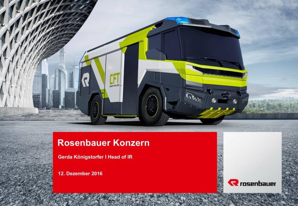 Rosenbauer Konzern Präsentation (12.12.2016)