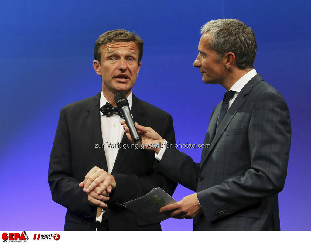 Pepo Puch (AUT) und Moderator Rainer Pariasek, Foto: GEPA pictures/ Markus Oberlaender (08.05.2013)