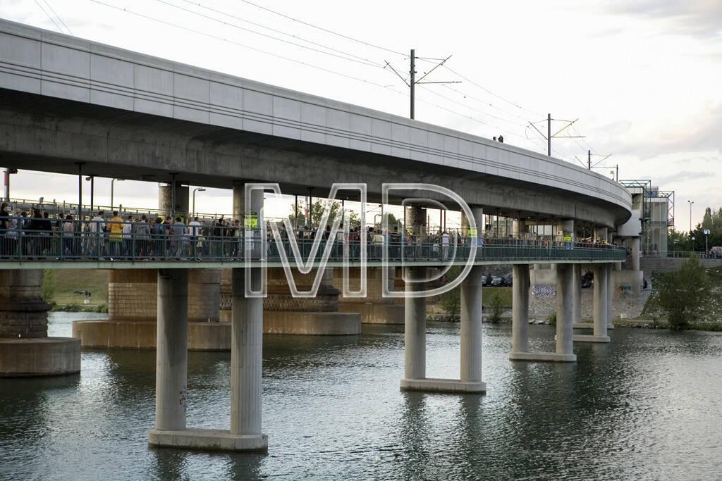 Brücke Neue Donau, Wien, © Martina Draper (15.12.2012)