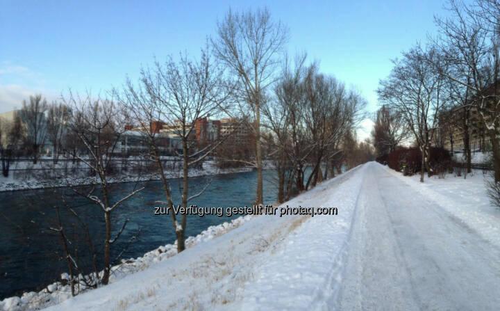 Donaukanal, Schnee, Winter