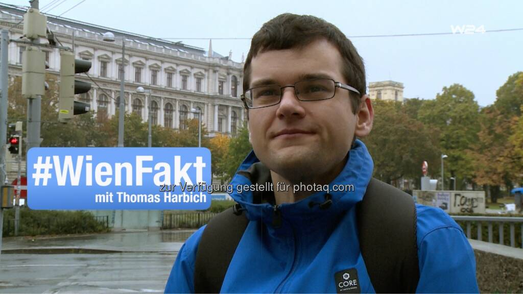 """Thomas Harbich - W24 - das Wiener Stadtfernsehen: W24 will's wissen: Kurioses Stadtwissen in """"#WienFakt mit Thomas Harbich"""" (Fotocredit: W24), © Aussender (12.01.2017)"""