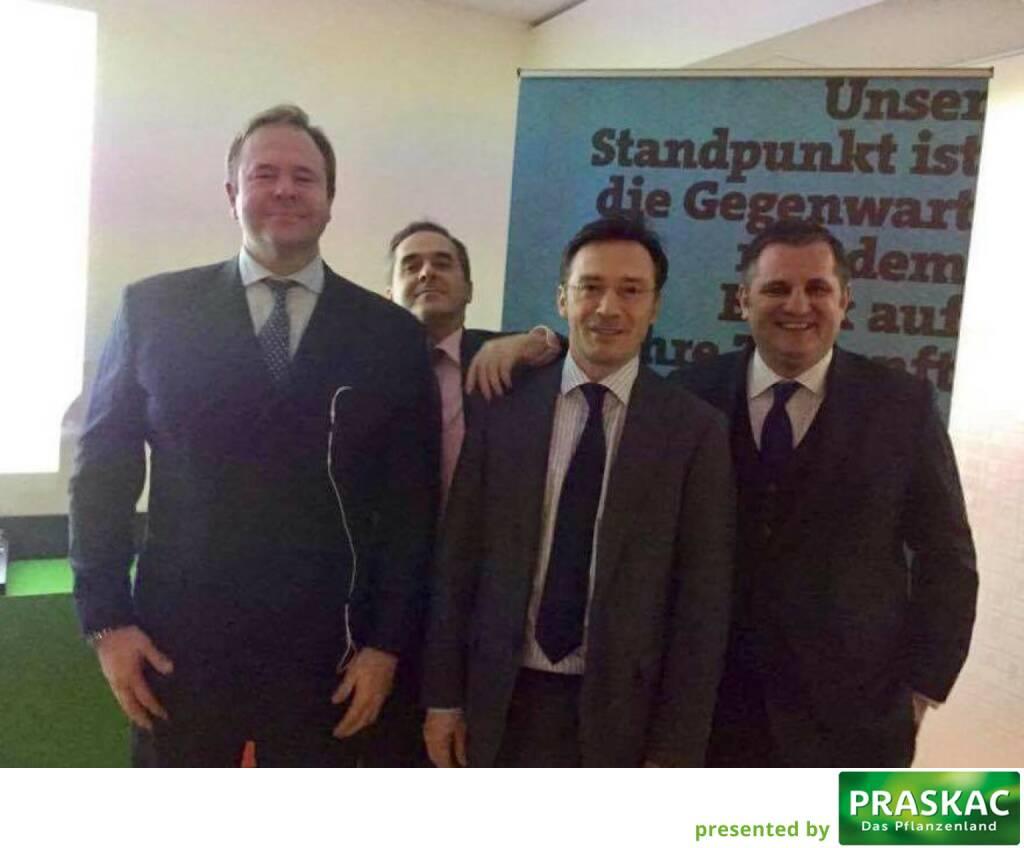 Mit Klaus Umek, Wolfgang Matejka, Roland Neuwirth und Eduard Berger bei der Wiener Privatbank (12.01.2017)