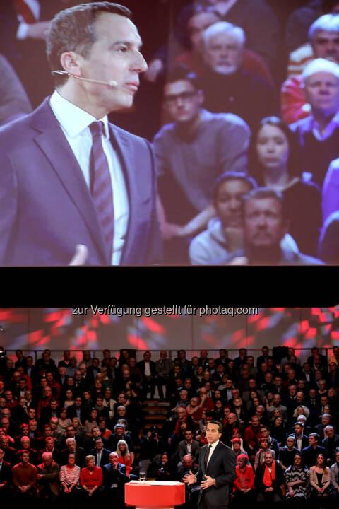 Rede von Christian Kern (SPÖ) in der Messehalle in Wels (Bild: SPÖ)