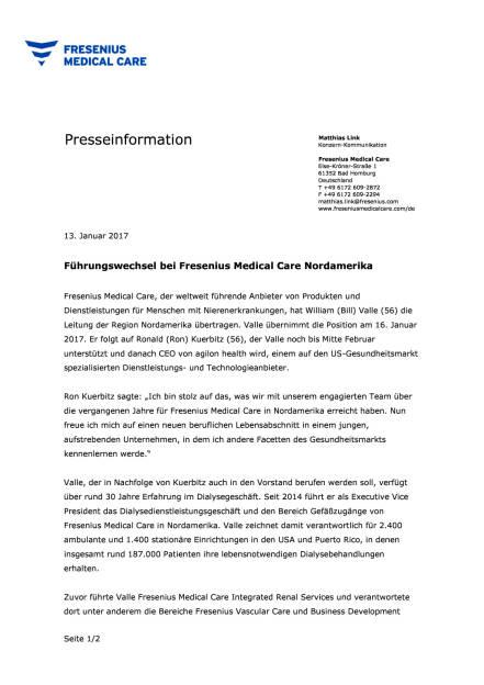 Führungswechsel bei Fresenius Medical Care Nordamerika, Seite 1/2, komplettes Dokument unter http://boerse-social.com/static/uploads/file_2057_führungswechsel_bei_fresenius_medical_care_nordamerika.pdf (13.01.2017)